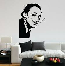 Salvador Dali Portrait Painter Artist Famous Fun Decal Wall Art Sticker Home Uk Ebay
