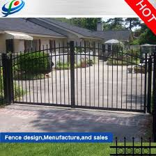 Outdoor Aluminium Metal Garage Sliding Galvanized Steel Fence Door Wrought Iron Automatic Main Gate Design For Home Garden Farm China Door Iron Grill Design Horse Fence Made In China Com
