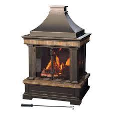 sunjoy amherst 35 in wood burning