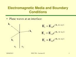 ppt electromagnetic media and