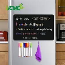 Hot Promo D287 Magnetic Erasable Chalkboard Sheet Blackboard Black Writing Message Board Calendar Kitchen Fridge Sticker Free Pen Eraser 17 11 Cicig Co