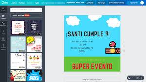 Disena Invitaciones De Mario Bros Online Gratis Canva
