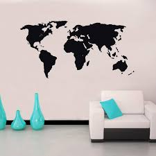 World Map Stencil Silhouette Wall Stickers For Living Room Art Murals Vinyl Wall Decals Bedroom Background Home Sticker Tree Wall Decal Tree Wall Decals From Joystickers 11 04 Dhgate Com
