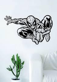 Spiderman Wall Decal Vinyl Art Sticker Living Room Bedroom Decor Movie Boop Decals