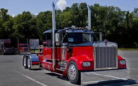 photo trucks kenworth red cars front