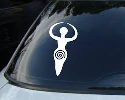 Fertility Goddess Vinyl Car Decal Pagan Wiccan Sticker Etsy