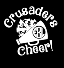 Crusaders Cheer Car Decal Personalized With Monogram