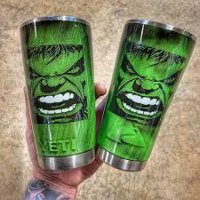 Incredible Hulk Tumbler Etsy