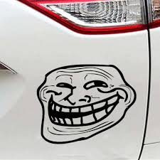 Internet Troll Face Mold Due To Vinyl Stickers Interesting Packaging Personality Accessories Decals Car Stickers Aliexpress