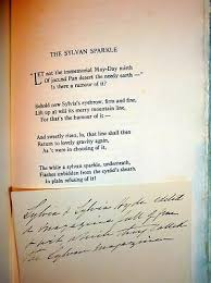 SYLVIA – ADELINE Adams Poems, 1912 1stEd + Manuscript Notes ...