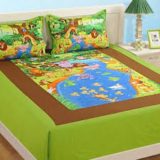 Buy Kids Double Bed Sheets Kid S Digital Printed Bed Sheets Online Swayam India