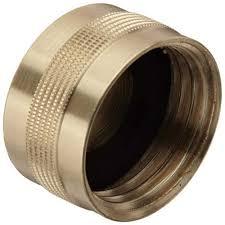 brass garden hose cap