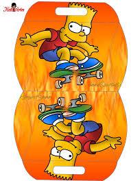 Bart Simpson Caja Almohada Para Imprimir Gratis Ideas Y