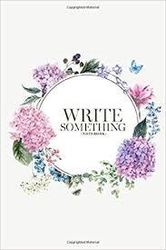 com notebook write something summer vintage floral