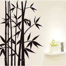 New Home Decor Wall Sticker Wall Art Removable Decoration Mural Decal Black Bamboo 60x90cm Decoration Murale Wall Stickerdecorative Wall Stickers Aliexpress