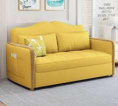 fabric sofa bed solid wood