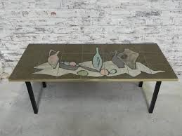 vintage tiled coffee table for at