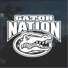 Florida Gators Gator Nation Window Decal Sticker Custom Sticker Shop