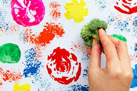 Fruit and Vegetable Prints | Kids' Crafts | Fun Craft Ideas ...