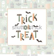 Trick Treat Halloween Abc Bats Bones Stock Vector (Royalty Free) 324575444