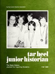 tar heel junior historian state