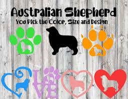 Australian Shepherd Decal Aussie Decal Car Decal Dog Etsy Australian Shepherd Dog Decals Dog Breed Decal