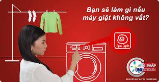 máy giặt không vắt được hoặc vắt không khô - OMO Matic