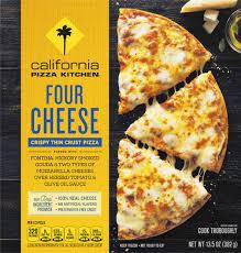 four cheese crispy thin crust pizza