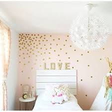 Gold Wall Decal Dots 200 Decals Easy Peel Stick Safe On Walls Paint Removable Metallic Vinyl Polka Little Girl Rooms Girl Room Polka Dot Wall Decals