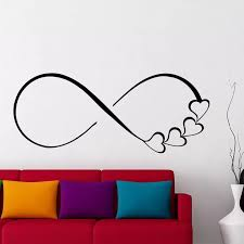 Bedroom Wall Decal Hearts And Infinity Symbol Wall Sticker Removable Love Sign Family Sticker Wall Art Mural Decor Gift Ay547 Wall Stickers Aliexpress