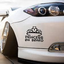 Creative Princess On Board Car Sticker Sale Price Reviews Gearbest