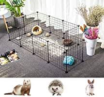 Pet Playpen Small Animal Cage Indoor Portable Metal Wire Yard Fence For Small Animals Guinea Pigs Rabbits Kennel Crate Fence Tent Black 12 Panels Buy Online At Best Price In Uae