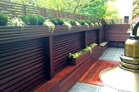 Fence Planter Boxes Fence Planter Boxes Terrace Wood Deck Patio Privacy Paling Wall Copper Hanging Box Horizontal Patio Fence Pergola Shade Diy Wood Deck Patio