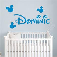 Cartoon Mickey Mouse Custom Name Kids Nursery Room Decal Home Decor Wall Sticker Ebay