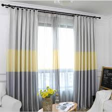 Modern Striped Window Tulle Curtains For Living Room Yellow Voile Sheer Curtains For Bedroom Kids Cortina Blind Custom Hm406 30 Curtains Aliexpress