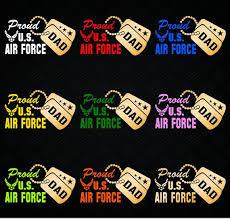 Proud Us Air Force Dad Vinyl Car Decal Sticker 7 5w W Etsy