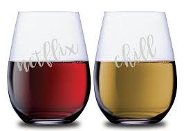 stemless wineglass set of 2 glasses
