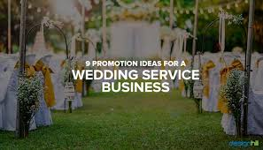 9 promotion ideas for a wedding service