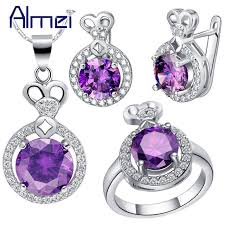 almei 2017 fashion jewelry silver new