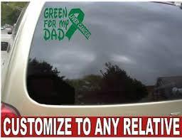 Customizes Car Window Green Liver Cancer Ribbon Vinyl Decal 7 X5 Ebay