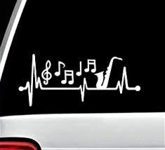 Artist Heartbeat Lifeline Decal Sticker For Car Window 8 Inch Bg 448 Decals