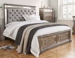vida living ophelia bed with silver