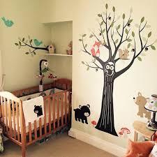 Woodland Nursery Wall Decals Nursery Tree Wall Decal Etsy
