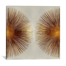 "iCanvas ""Bronze Sunburst II"" by Abby Young Canvas Wall Art ABB2 ..."