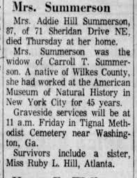 Addie Hill Summerson dies - Newspapers.com