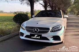 CL-AW-01 Matte Aurora White to Green Red wrap my car for Benz ...