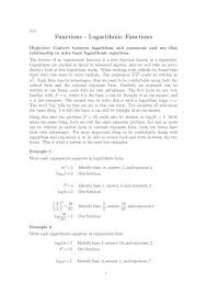 logarithmic functions rewrite each equation