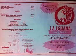 la iguana taco burrito for