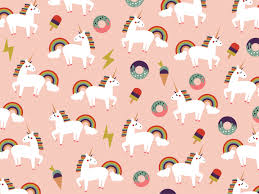 unicorn pattern wallpaper by