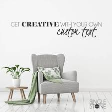 Custom Wall Decal Quote Create Your Own Wall Words Custom Etsy